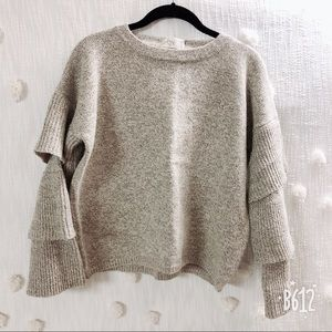 BRAND NEW Knit Sweater with bell sleeves
